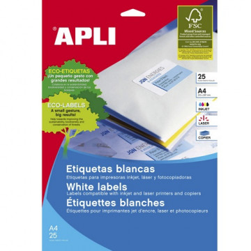 ETIQUETES A4 (0178x0100) (025f/270ef) APL10197 CRR