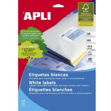 ETIQUETES A4 (0356x0169) (025f/80ef) APL10199 CR R