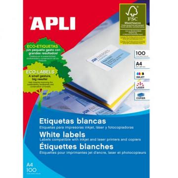 ETIQUETES A4 (0380x0212) (100f/65ef) APL01283