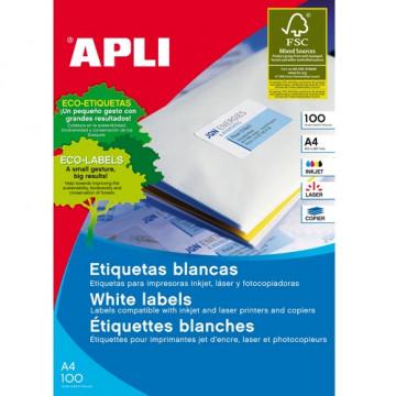ETIQUETES A4 (0485x0254) (100f/44ef) APL01285