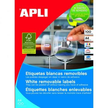 ETIQUETES A4 (0485x0254) (100f/44ef) APL03054 R