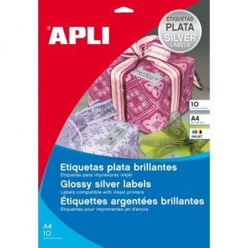 ETIQUETES A4 (0635 x0296) (020f/27et) APL11274 PLATA / INK (ABO)