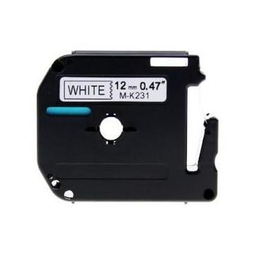 CINTA C BROTHER MK231 12mm NEGRE/BLANC