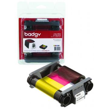 Cinta color 100 impresiones para impresora tarjetas BADGY