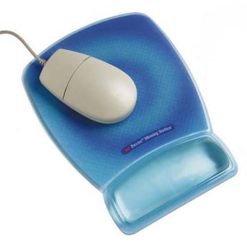 Reposamuñecas para ratón color fluorescente azul M