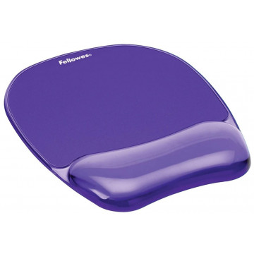 Alfombrilla y reposamuñecas gel Cristal violeta Fe