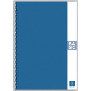 CUAD. ESP. T.D. A4 C.4 80f 80gr BASIC TAPA BLAU
