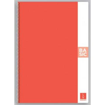 CUAD. ESP. T.D. A4 C.4 80f 80gr BASIC TAPA CORAL