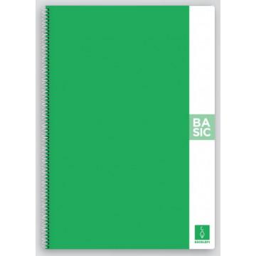CUAD. ESP. T.D. A4 C.4 80f 80gr BASIC TAPA VERD