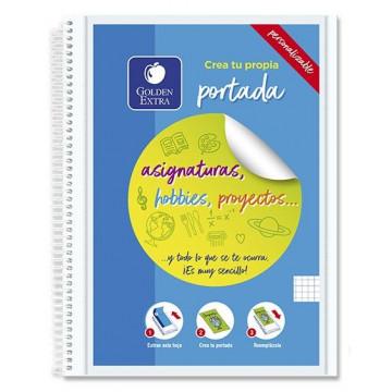 Cuaderno 8º 96 hojas lisas 16 microperforadas amar