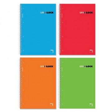 Cuaderno espiral A5 160 hojas cuadrícula 5x5 + greca Super Block