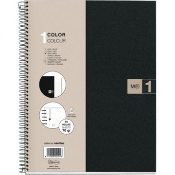 Cuaderno espiral A5 80 hojas microperforadas 4 tal