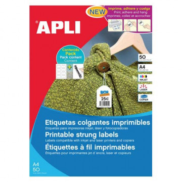ETIQUETES PENJANTS A4 22x35 APL11945 (50f/20ef)
