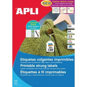 ETIQUETES PENJANTS A4 28x43 APL11946 (50f/15ef)