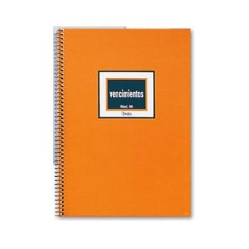 LLIBRE COMPTABILITAT Nº 96 VENCIMENTS ESPIRAL 4º (165x235mm)