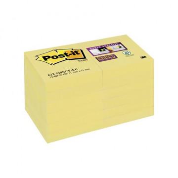 Notas adhesivas 51x51mm. color amarillo canario pa