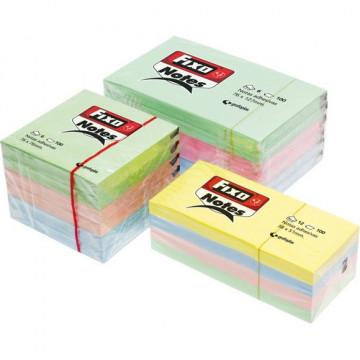 Notas adhesivas 76x127 mm.100 hojas  pastel Fixo