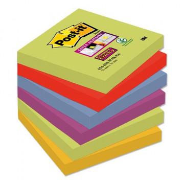 Notas adhesivas Super Sticky 76x76 mm 6 blocs x 90hojas Marrakes