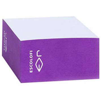 TACO NOTES 100x100  (500f) BLANC / CANTO COLOR LILA