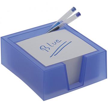 PORTA TACO NOTES 10x10 PLASTIC TRANSLUCID BLAU