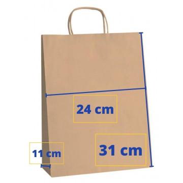 BOSSA PAPER 24x11x31 KRAFT MARRO (50u.) APL101645