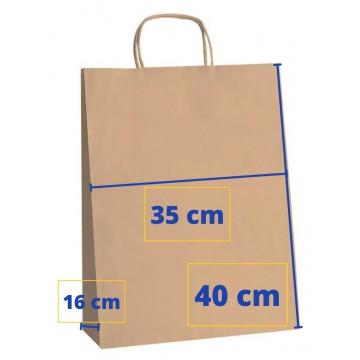 BOSSA PAPER 35x16x40 KRAFT MARRO (50u.) APL101646