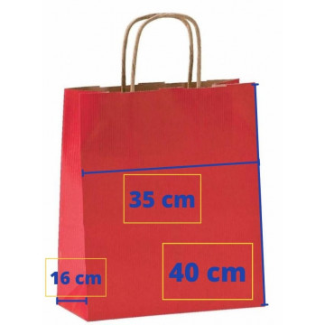 BOSSA PAPER 35x16x40 VERMELL (50u) APL101648