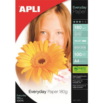 PAPER INK A4 GLOSSY 180 gr. (100u) EVERY DAY