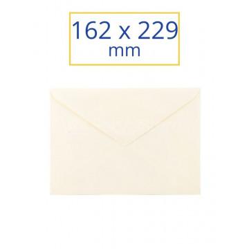 SOBRE BLANC ADH. 162x229 VERJURADO MARFIL 1/4 (100u)       (ABO)