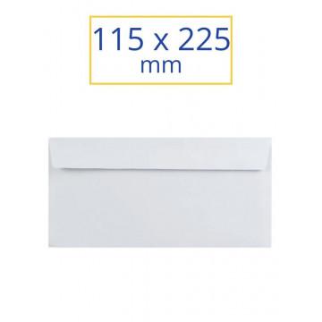 SOBRE BLANC ADH.115x225 AMER. F.E. (100u)