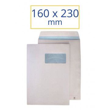 SOBRE BLANC ADH.160x230 F.D. (100u)                        (ABO)