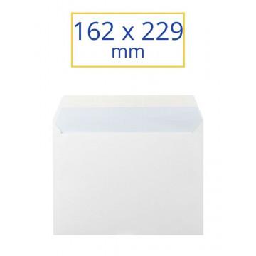 SOBRE BLANC ADH.162x229 4º JUST (100u)                     (ABO)