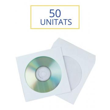SOBRE CD'S INDIVIDUAL PAPER BLANC (50u)