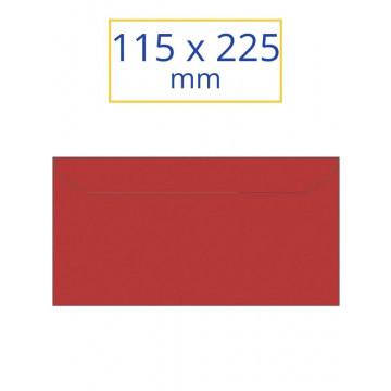 SOBRE COLOR 115x225 VERMELL (10u.)
