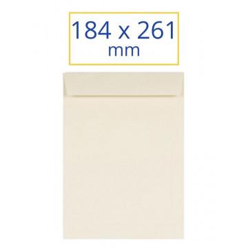 BOSSA BLANCA 184x261 VERJURADO CREMA 1/4 PROL (100u)       (ABO)