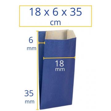 Sobres kraft 18x6x35cm azul 250u Apli