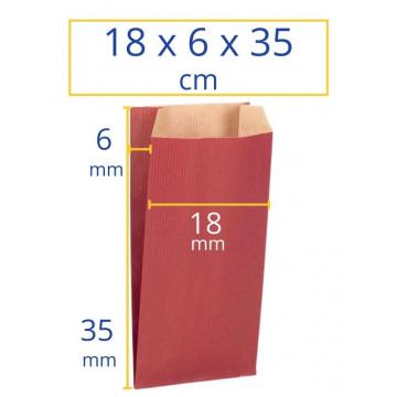 Sobres kraft 18x6x35cm rojo 250u Apli