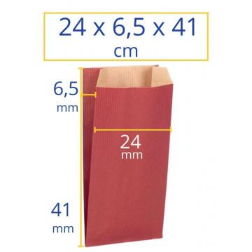 Sobres kraft 24x6,5x41cm rojo 250u Apli