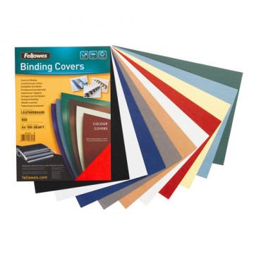 Tapas encuadernación A4 250 grs marrón paquete 100 unid Cuero Delta Fellowes
