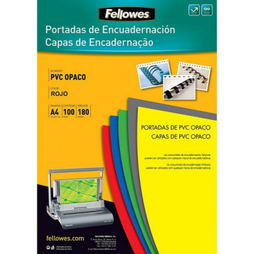 Tapas encuadernación A4 PVC 180 micras opaco verde 100 un. Fellowes