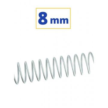 CANUTO ESPIRAL METALIC (5:1 08 mm 45 FULLS) BLANC