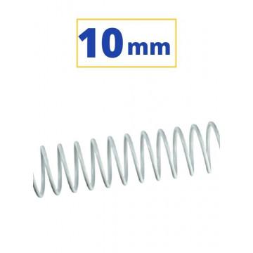CANUTO ESPIRAL METALIC (5:1 10 mm 60 FULLS) BLANC