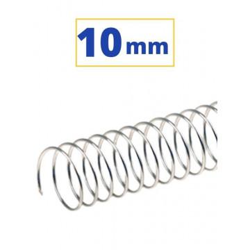 CANUTO ESPIRAL METALIC (5:1 10 mm 60 FULLS) PLATA