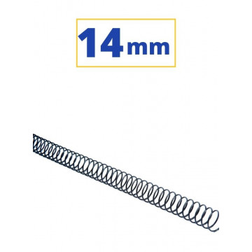 CANUTO ESPIRAL METALIC (5:1 14 mm 100 FULLS) NEGRE