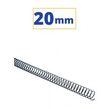CANUTO ESPIRAL METALIC (5:1 20 mm 160 FULLS) NEGRE
