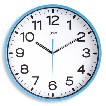 Reloj analógico 30 cm. color Azul mar Archivo 2000