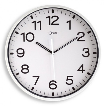 Reloj analógico 30 cm. color Blanco Archivo 2000