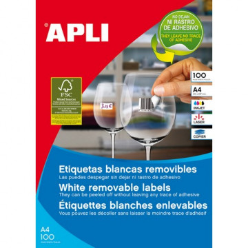 ETIQUETES A4 (0380x0212) (100f/65ef) APL03052 R