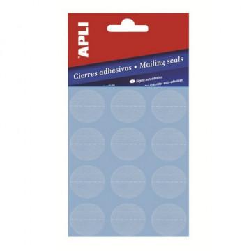 Cierres adhesivos transparentes diámetro 25 mm. ApL10694