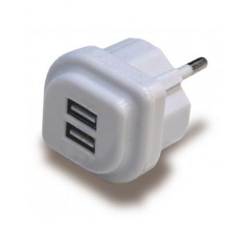 ADAPTADOR 220v a 2 USB 2,1A EXTRAPLA (MOBILS, ETC)